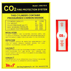 Co2 Door Caution Signage Co2 Release Signage Cylinder